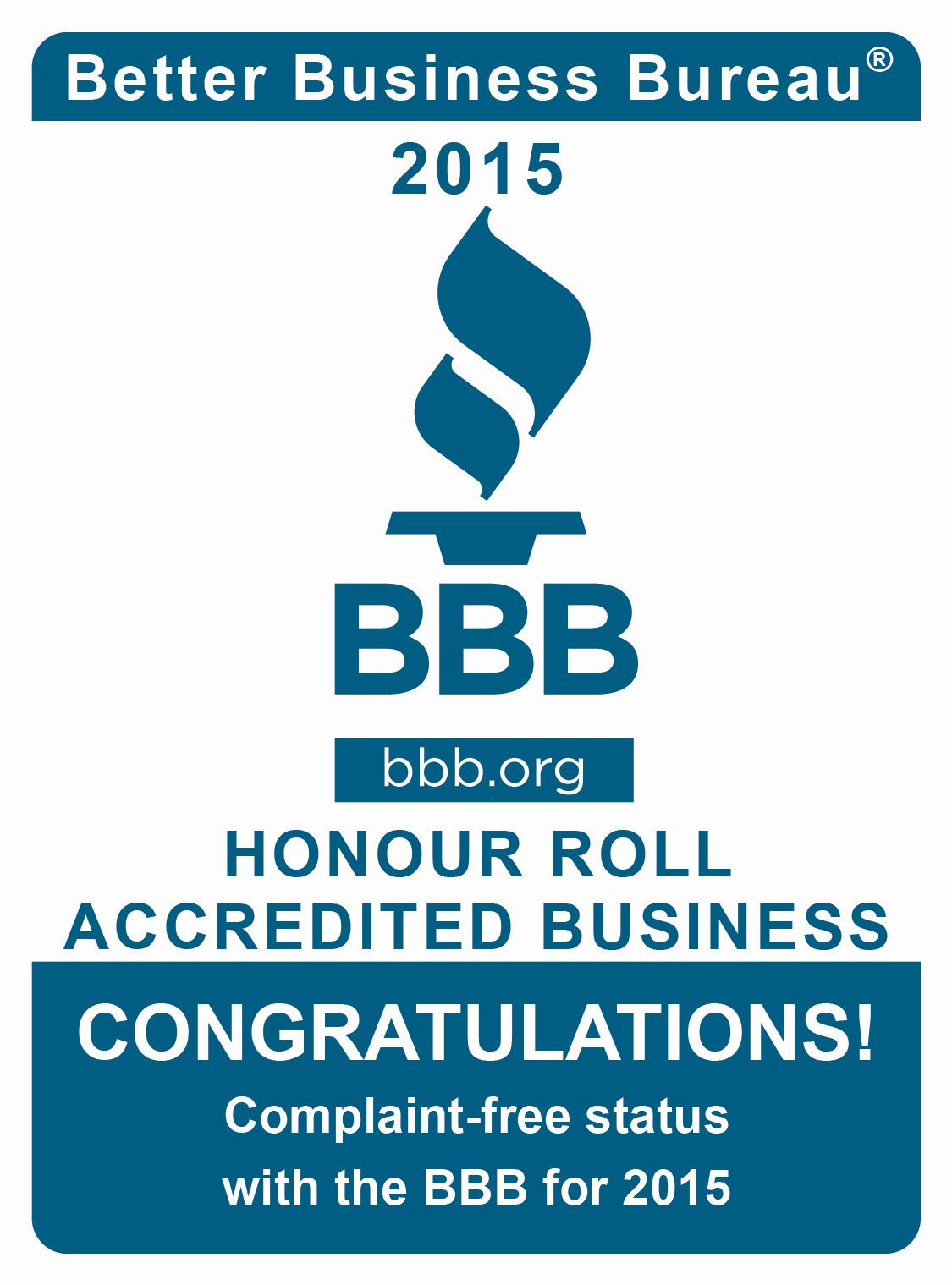 BBB Honour Roll Accredited Buiness